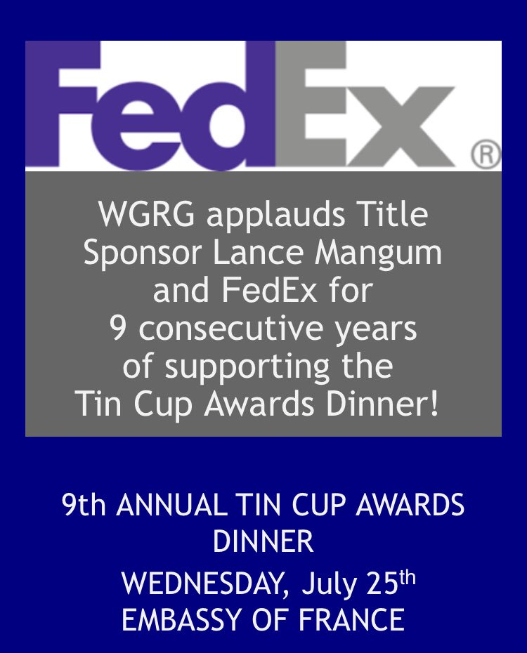We truly appreciate the continued support of Gina Adams, Lance Mangum and @FedEx for their continued support of this annual event that honors the men, women and organizations committed to advancing the cause of advancing #DiversityandInclusion #TinCup2018