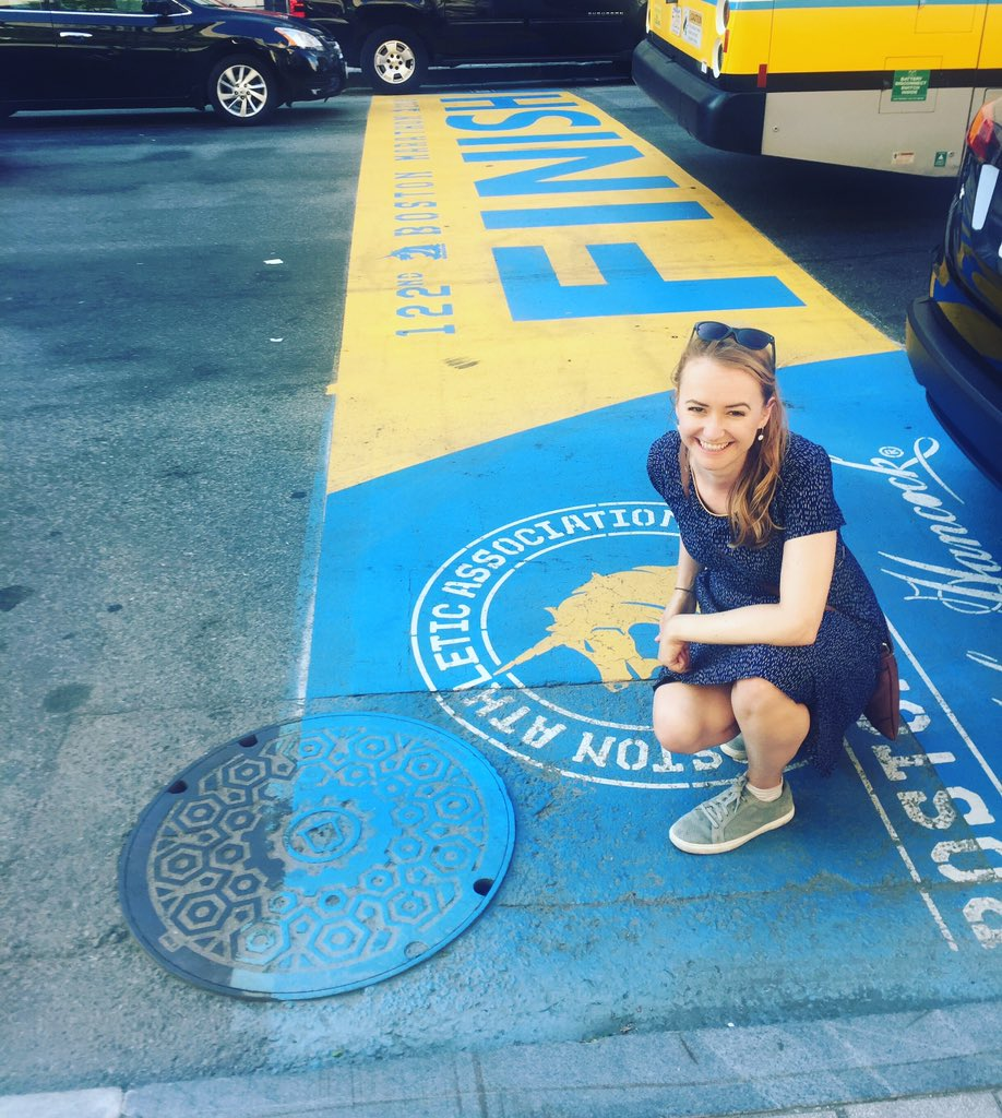 Visited the iconic Boston Marathon finish line on Boylston street today 😍😍 Now if only I was fast enough to qualify for Boston marathon 😬😂 But maybe one day. #ukrunchat #bostonmarathon