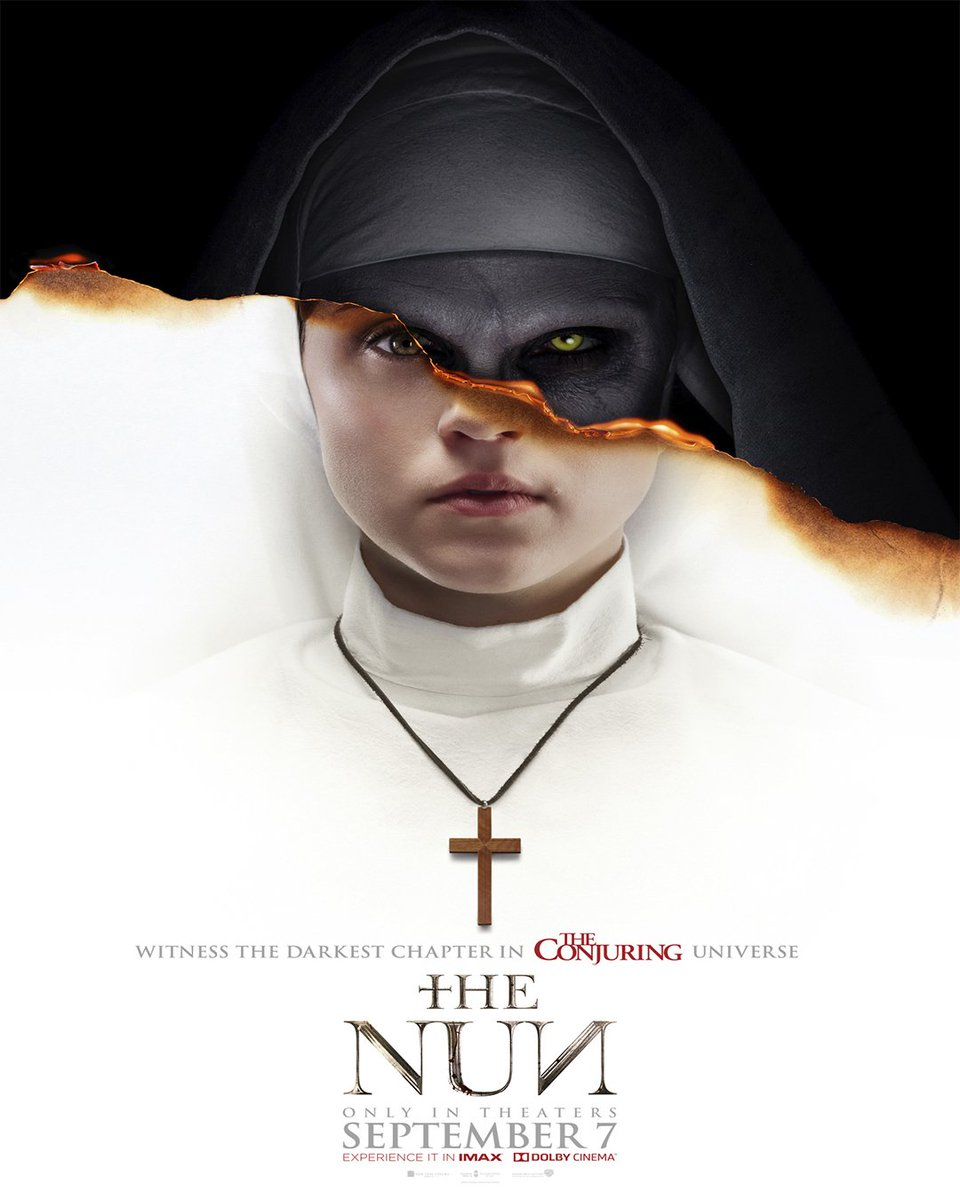 Check out this creepy new poster for The Conjuring spin-off film The Nun. ⛪️