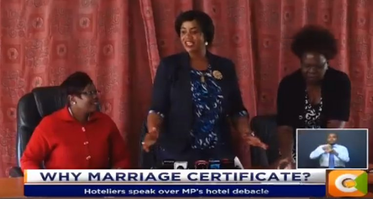 Hoteliers speak over MP's hotel debacle. Laikipia Woman Rep. was denied admission. Hotel in Kericho demanded marriage papers #JKLive w/ @KoinangeJeff
