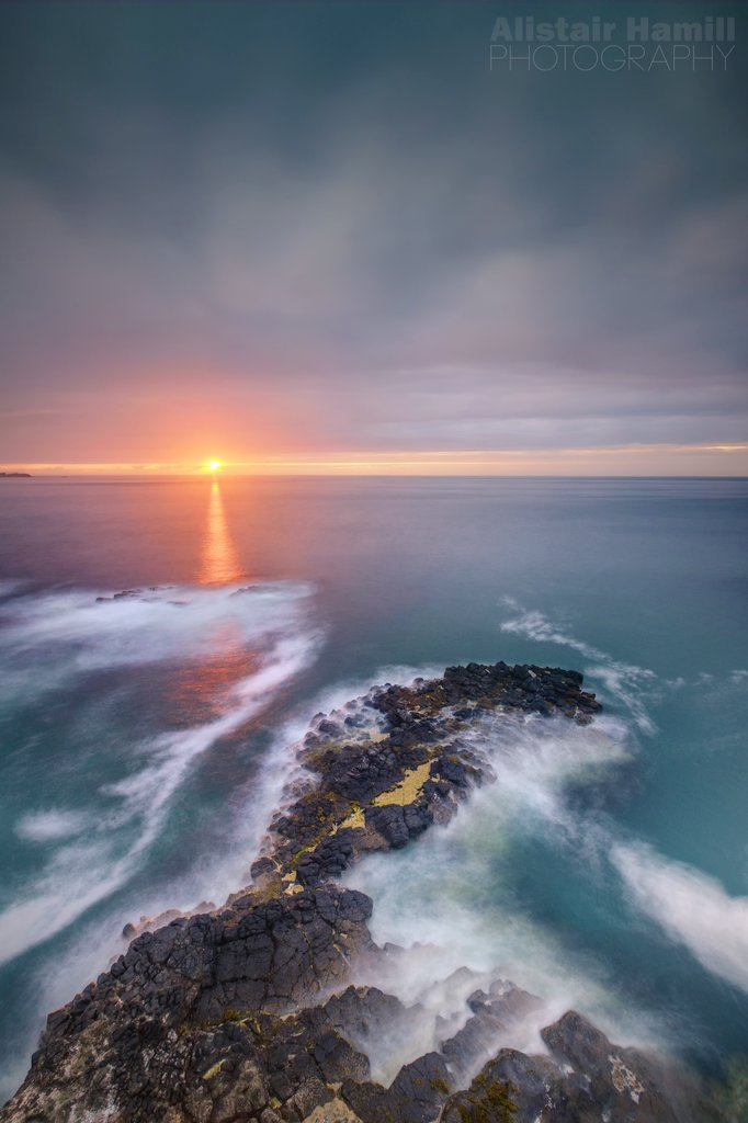 A Causeway Coast sunset. Sure, where else would you want to be...?!