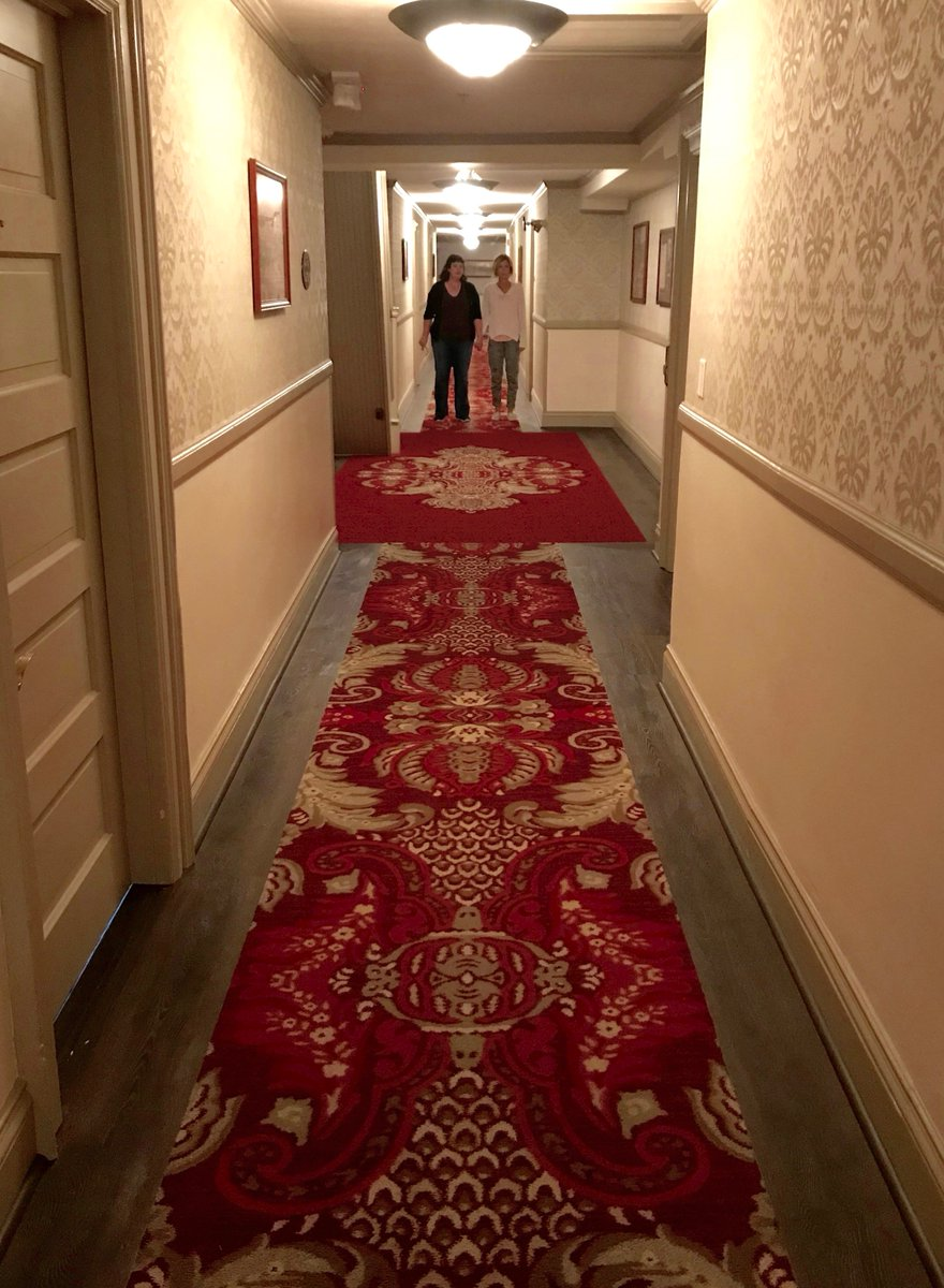 Come play with @AnneWheaton & I... forever and ever and ever... in the actual hallway inside the  (th@StanleyHotele inspiration for ) 👻#TheShining