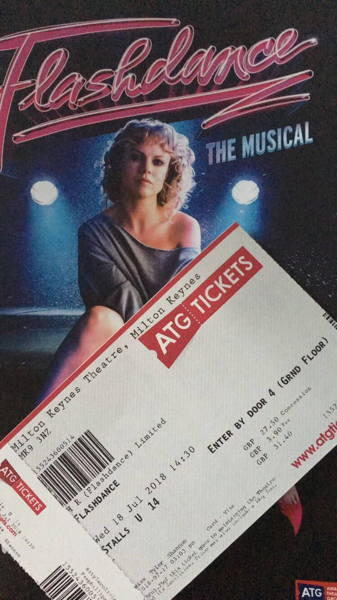 Flashdance UK Tour posted media