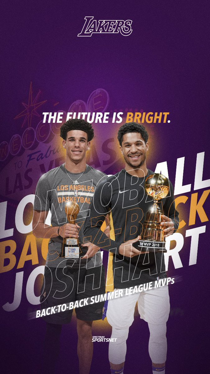 #WallpaperWednesday with @ZO2_ & @joshhart. 🏆🏆   #Lakers | #LakersSummer