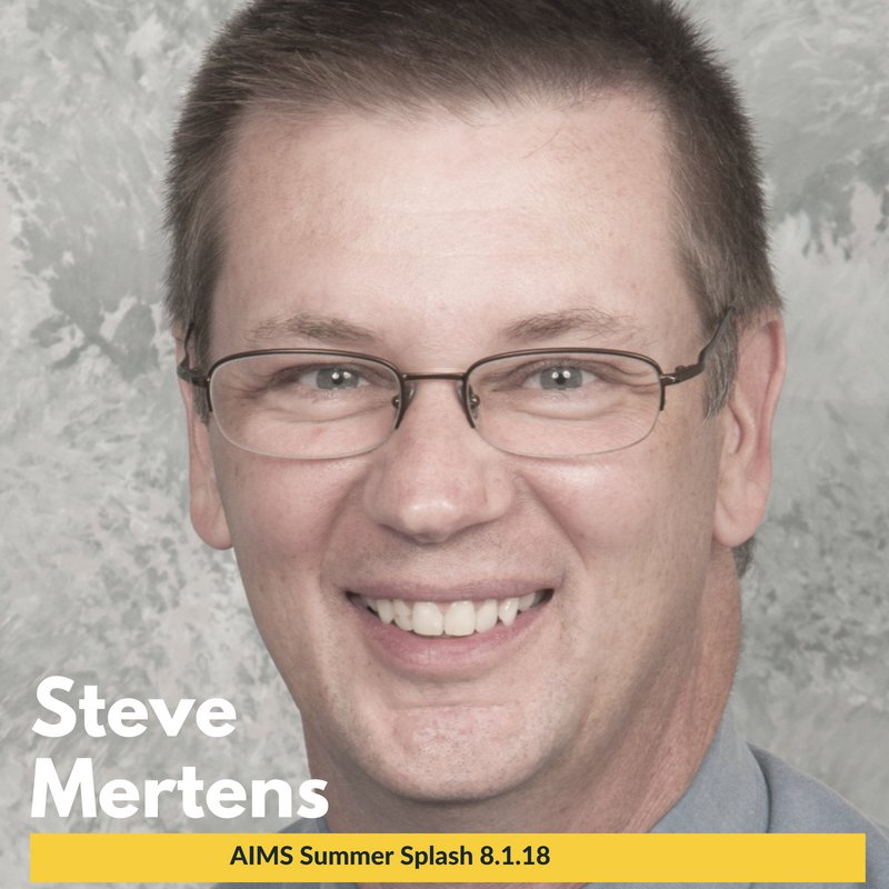 The #AIMSnetwork is excited to add a featured presenter to our Summer Splash lineup! Steve Mertens, @educationISU associate professor and renowned middle-level education researcher, will share his knowledge with IL teachers on 8.1.18 at Chiddix Junior High! #modernmiddleschool