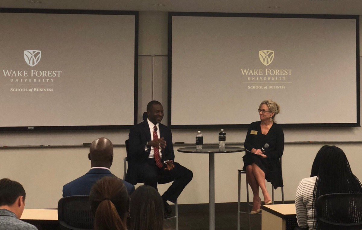 Last night I had the pleasure of speaking with @WakeForestBiz MBA students and alumni about owning your career.