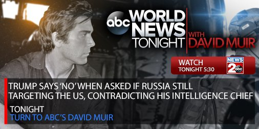 Trump says 'no' when asked if Russia still targeting the US, contradicting his intelligence chief –New Details | Tonight 5:30 @ABCWorldNews