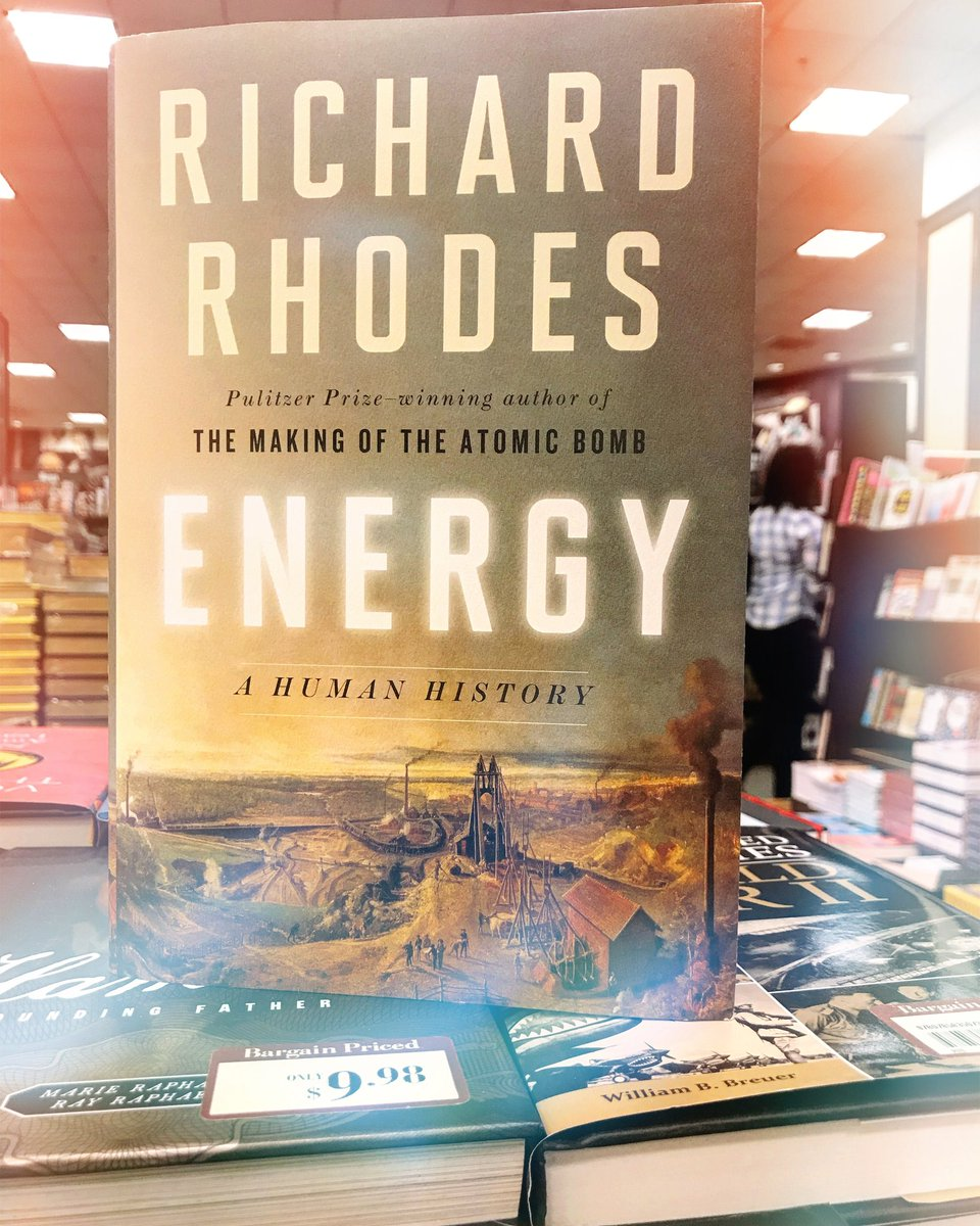 #ThisWideWorldWednesdays features Pulitzer Prize-winning author Richard Rhodes Energy: A Human History, which engagingly narrates our #energy evolution #CGASummerReads #NYU