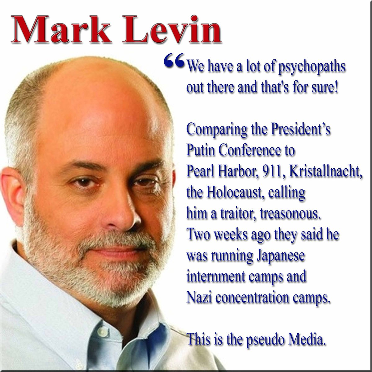 @marklevinshow blasted the media on Sean Hannitys show the day the pseudo media was having a heart attack over some slip of the tongue by Trump. Fact is a few days earlier they were pitching a shit fit over how he talked to NATO #MAGA #WalkAway