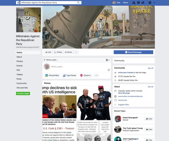 'Milkshakes Against the Republican Party' Facebook page disappears a day after Congress pressures social media https://t.co/NQz5O0MOub