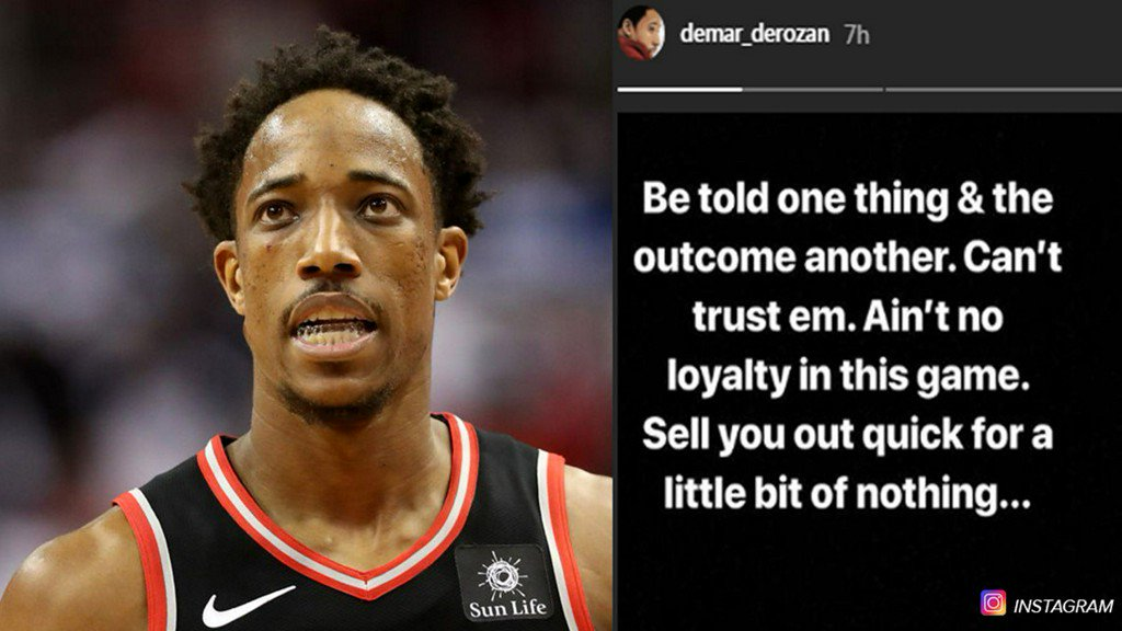 6fd2a7c4fad3 new spur derozan takes to instagram to express dismay over trade
