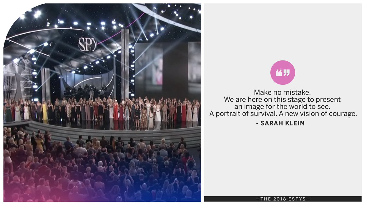 Former gymnast Sarah Klein shares her message of hope to her sister survivors. #ESPYS