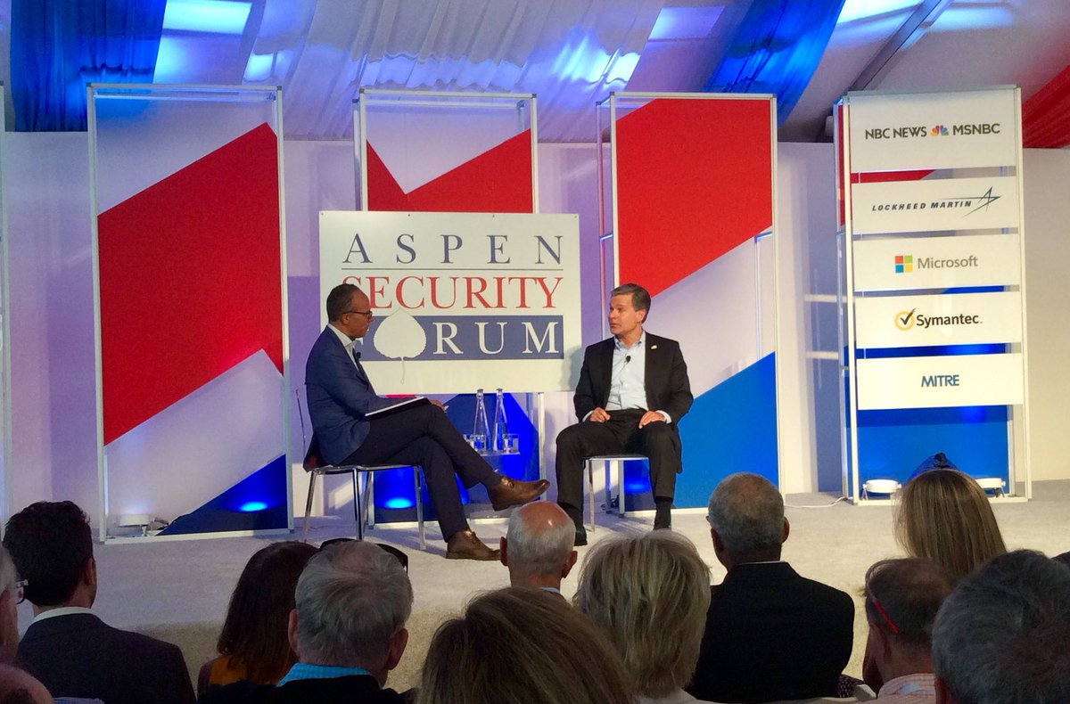 My view has not changed which is Russia tried to interfere in the last election...There are other countries that try to influence...But there is no question that Russia is by far the most aggressive actor. @FBI Director Christopher Wray @AspenInstitute #AspenSecurity