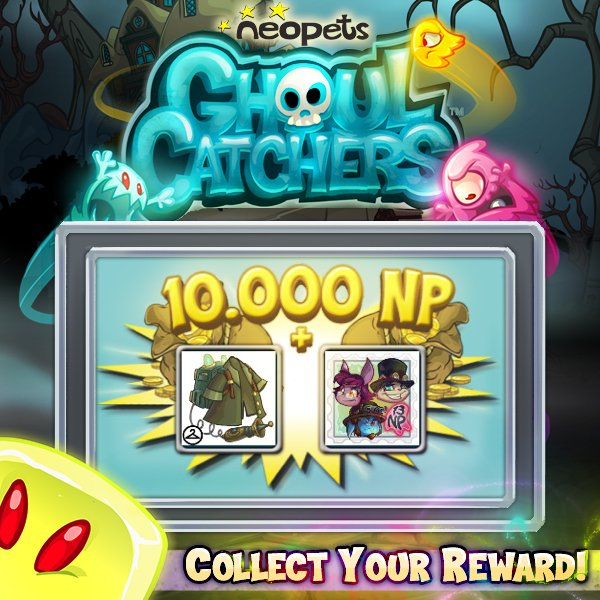 A Ghoul Catchers Coat And Stamp Collect Your Reward Now Neopets NeopetsApp GhoulCatchers FreeGames Smarturlit NPGCPrizes Pictwitter