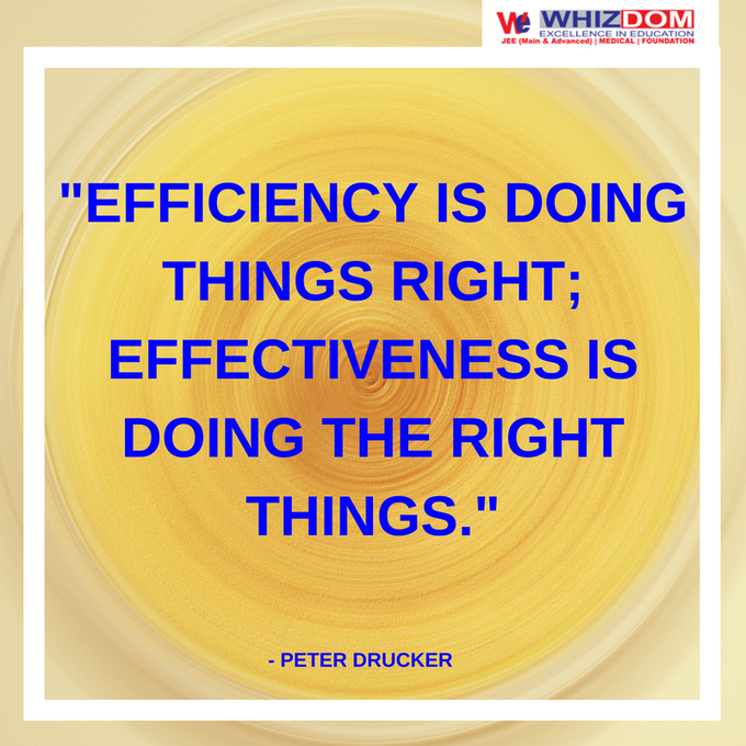 Performing or functioning in the best possible manner with the least waste of time and effort. The difference between effectiveness and efficiency is– Being effective is about doing the right things while being efficient is about doing things right. #ThursdayThoughts Photo