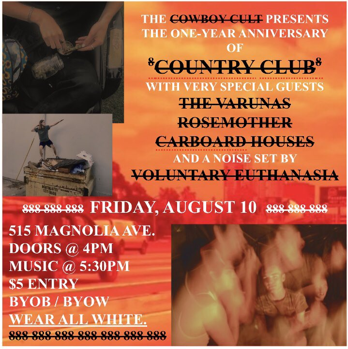 country club's one-year anniversary show!