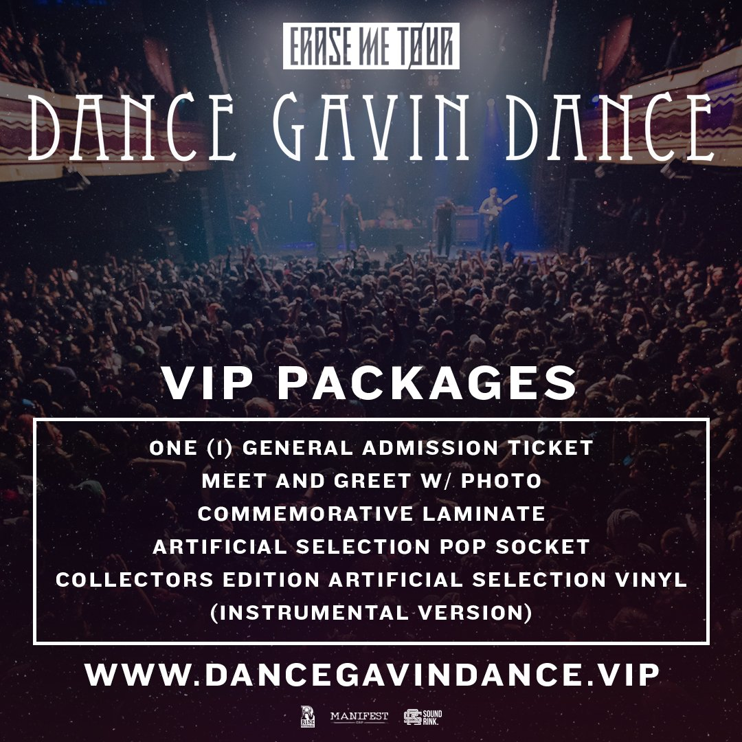 Dance Gavin Dance On Twitter Vip Tickets For Dance Gavin Dance On