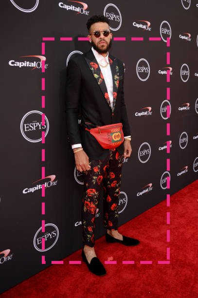 JaVele McGee with the gucci pack #ESPYS2018