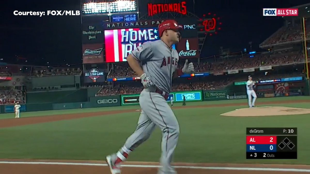 1b4aaac86 MikeTrout homers to help the American League edge the National League at  the @MLB All-Star Game. @MikeFrankelSNJ has the details:  http://ow.ly/TlBb30l12ki ...