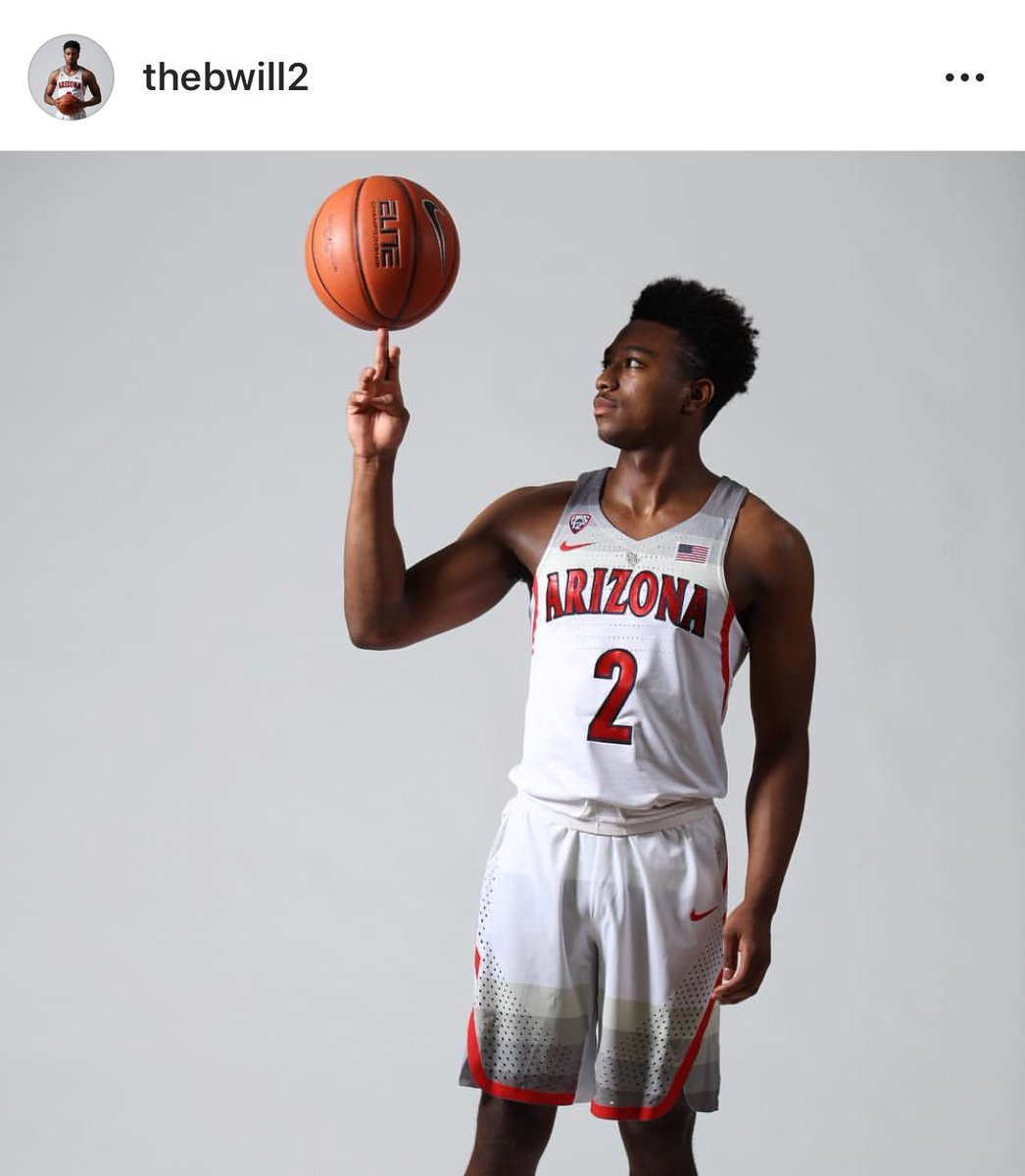 First look of point guard Brandon Williams wearing an Arizona Wildcats uniform.