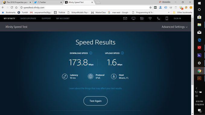 Still obsessed with my upload speed which is clearly LAME! https://t.co/R5tagiiDy3