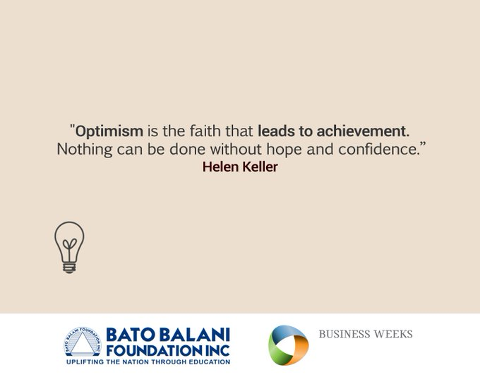 Optimism is everything! Have a great Thursday! #ThursdayThoughts #WIWAGBusinessWeeks Photo