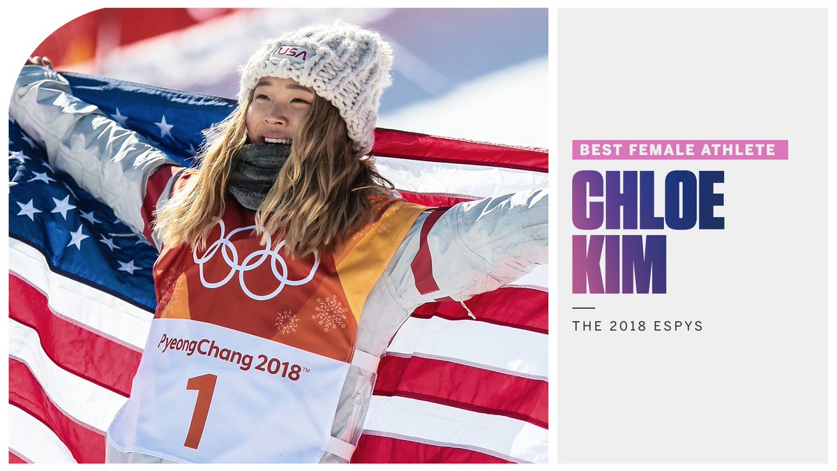 .@ChloeKim just won Best Female Athlete and she's only 18 😳 #ESPYS