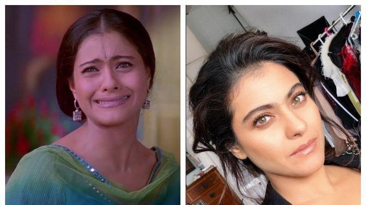 Kajol even recreated a scene from the song 'Gerua' after the 'Gamla scene'  from K3G during her promotions! 😂 #HelicopterEela https://t.co/otKcKA46CD