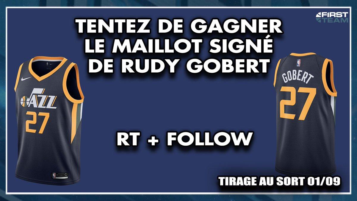 TENTEZ DE GAGNER LE MAILLOT SIGNÉ DE RUDY GOBERT ! ➡️RT ce tweet + Follow @FirstTeam101 ➡️Pour mater lémission youtu.be/0ONBWk4StSs Bonne chance (tirage au sort 01/09)