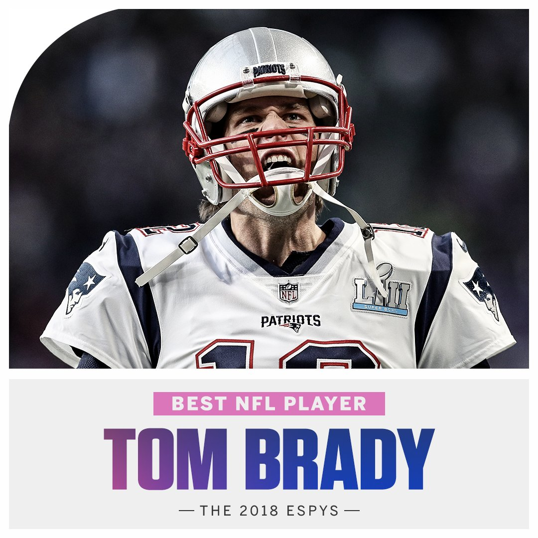 Tom Brady adds to his trophy case with the Best NFL Player award #ESPYS