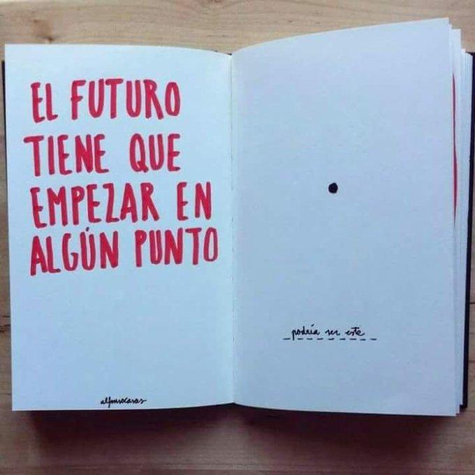 El futuro tiene que empezar en algún que en este ● Why not? #Felizjueves #Buenosdiasmundo 🌏💃🎧🎸🎤 Photo