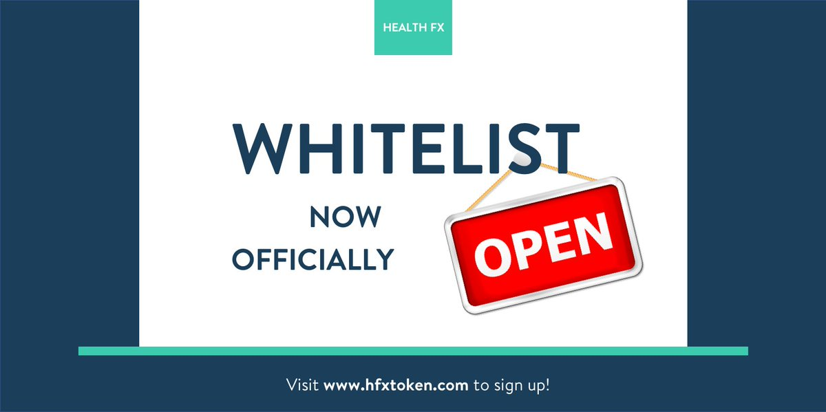 Health Fx On Twitter Our Whitelist Is Now Officially Open Sign Up Https T Co Wm6slj9g2f To Secure Your Spot In The Public Token