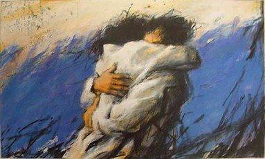 """'...Ma il più delle volte un abbraccio è staccare un pezzettino di sé per donarlo all'altro affinché possa continuare il proprio cammino meno solo"""" Pablo Neruda  ⚘una buona giornata a tutti⚘⚘ @HaddaSiham  @LetturArte  @CasaLettori"""