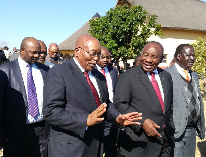 Newsletter| President Cyril Ramaphosa and his predecessor, Jacob Zuma used the centenary celebrations of late former president Nelson Mandela in Mvezo to reassure South Africans that the global icon never sold out the nation, by @LubabaloNgcukan Photo