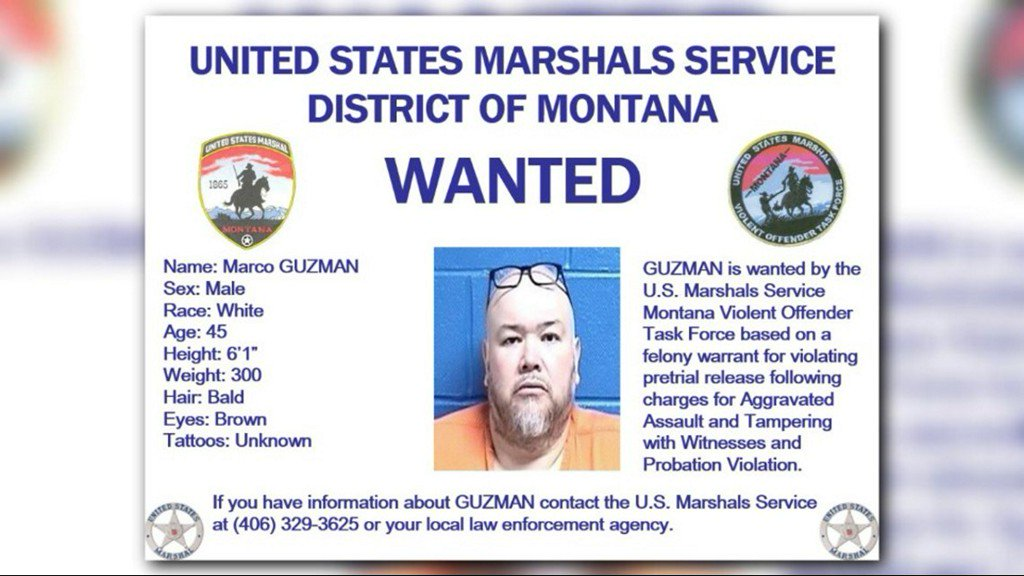U.S. Marshal Services searching for violent offender who fled Montana city https://t.co/rjLsPrqHAK