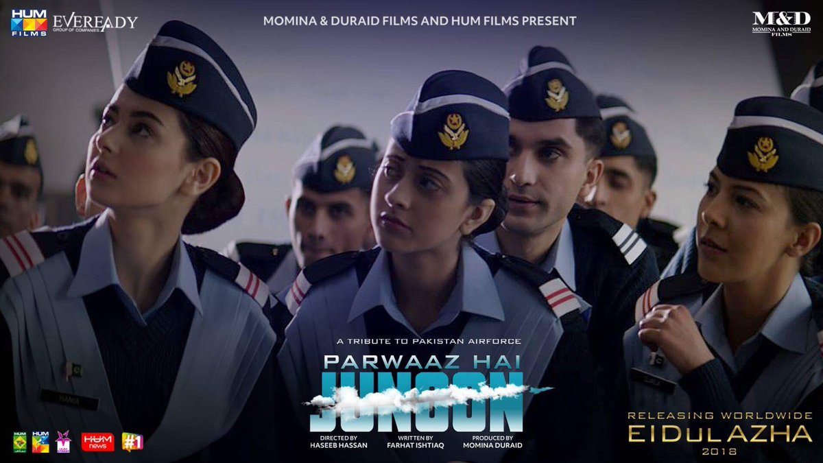 "The amount of love and appreciation we are receiving for ""#Bhulleya"" is flattering. Thank you everyone.   Here are few shots from ""Behind the scenes"" 🎥🎞   #ParwaazHaiJunoon ✈️ #NoSpeedNoThrill #MnDFilms #HUMFilms #PakistanAirForce   #ReachForTheSkies #AhadRazaMir #HaniaAamir"