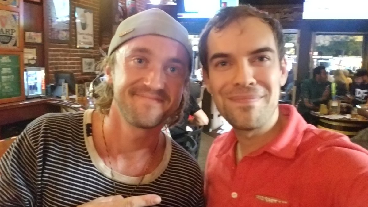Met Tom Felton (Draco Malfoy) and he was super polite and gracious. Thanks dude for being so cool! @2ToesUp and I love ya