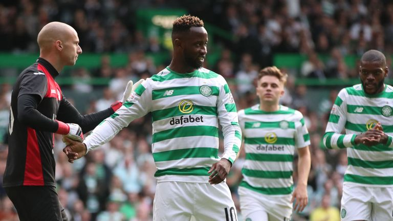 Ten-man Celtic cruised into the Champions League second qualifying round with a comprehensive 3-0 win over Alashkert. Read: skysports.tv/EFjLFG