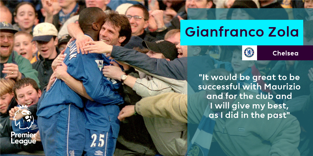 A hero returns 🔵  Gianfranco Zola is back at @ChelseaFC as assistant first-team coach...