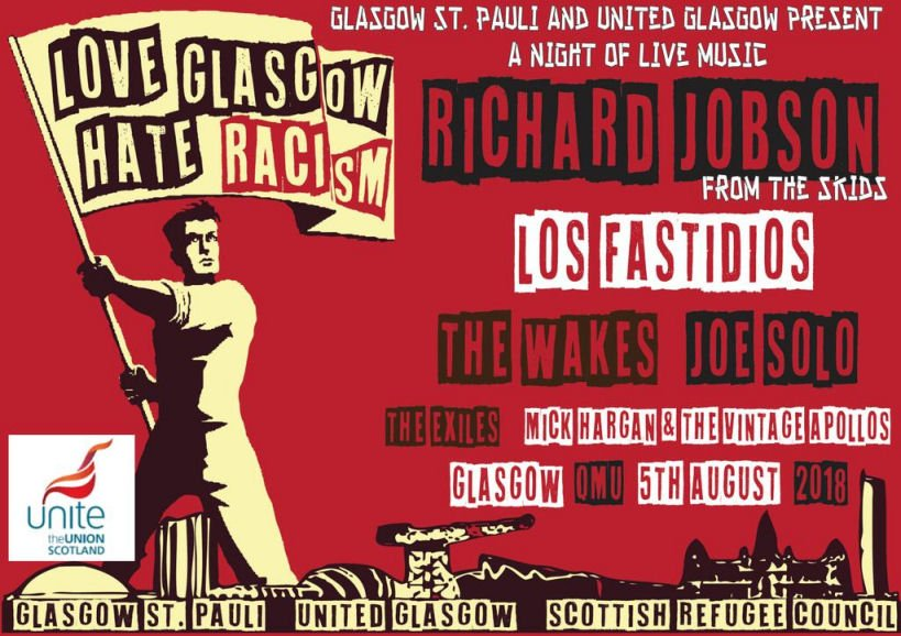 Put the date in your diary >> #LoveGlasgowHateRacism gig on 5 August to raise funds for Scottish refugees and spread the anti-racism message thenational.scot/news/16363031.… via @stephenpaton134 @ScotNational