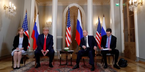 RETWEET if you want Congress to subpoena Marina Gross (far left), the interpreter for the Trump-Putin meeting in Helsinki and the only witness to the very important agreements Trump made with Americas enemy—which agreements Trump refuses to reveal even to White House staff.
