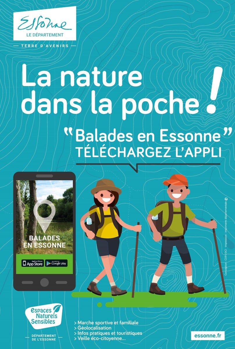 """🚶♂️(Re)découvrez plus de 200 km d'itinéraires de randonnées et 40 sites naturels avec l'appli """"Balades en #Essonne"""" 🍃 Elle vous guidera de point d'intérêt en point d'intérêt, au gré de vos envies grâce à une carte dynamique🚶♀️#randonnées #marchenordique #nature #Tourisme https://t.co/TYzbNoY2sw"""