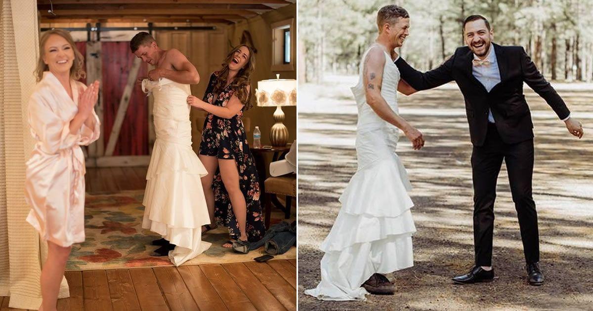Bride Sends Brother To Take Wedding Photos With Her Groom 9gag.com/gag/a2oAWAE?re…