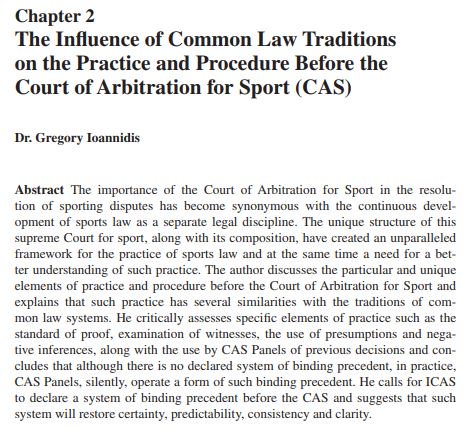 Should #CAS adopt a system of judicial precedent? I think so. #CASyearbook #sportslaw #sportingjustice @SHULawCrim @Sportslaw_Asser @TMCAsser