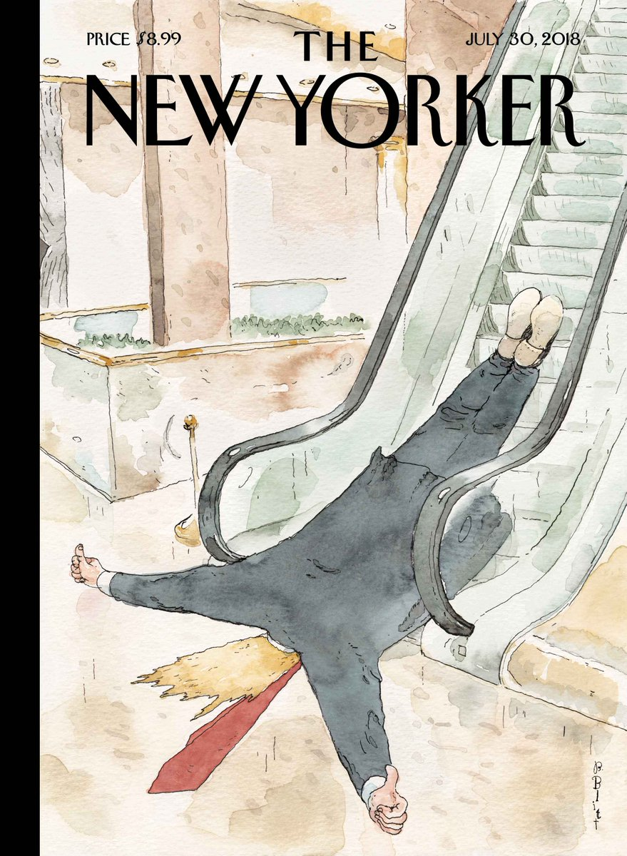 "An early look at next week's cover, ""Thumbs-Up,"" by Barry Blitt: https://t.co/ln9xjV5lTy"