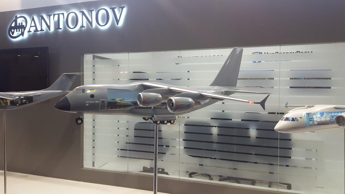 مفاوضات بين تركيا واوكرانيا من اجل انتاج مشترك لطائرة النقل العسكري Antonov An-188 الجديده  DidQnwGW0AAJ49N