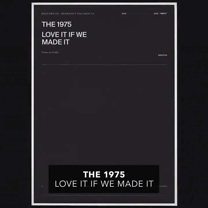 Hear @the1975's BRAND NEW anthem for today's youth 'Love It If We Made It' 💜💜💜 ▶︎ youtube.com/watch?v=j5l6Zo…