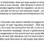 Oh look here's @BorisJohnson making it clear his objection to the #ChequersPlan was it didn't give enough scope to tear up environmental protection (though actually it gives too much as it is).