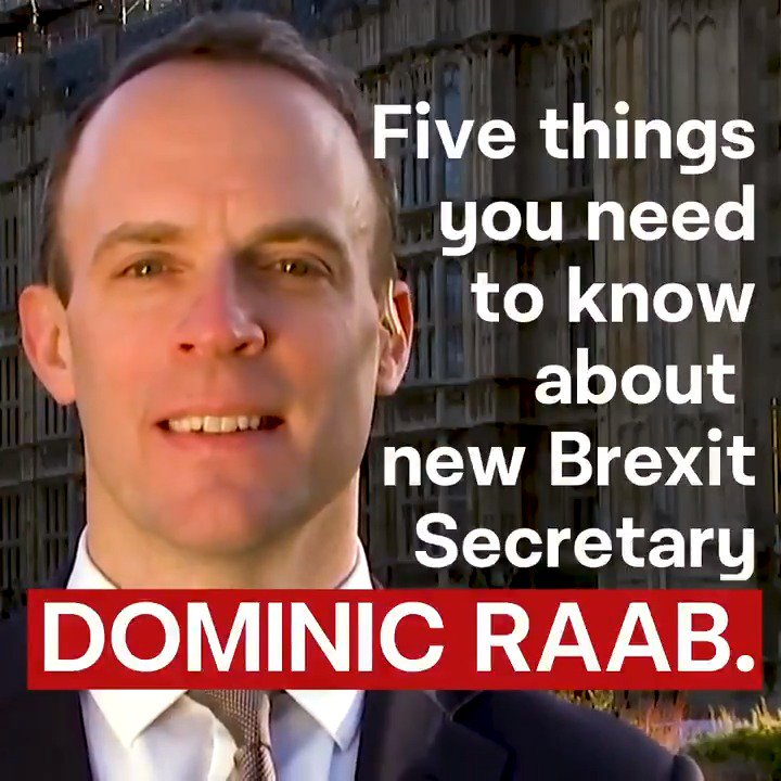 Five things you need to know about Dominic Raab, the man Theresa May has chosen to lead her Tory Brexit. #marr https://t.co/q8mJHY4R6d