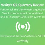 Image for the Tweet beginning: Update: Verify's Q2 Quarterly Review